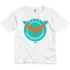 H . E  . L . P . Logo Youth Tee