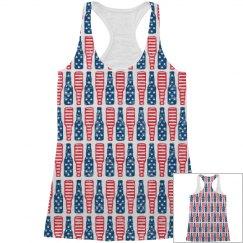 American Flag Beer Pattern