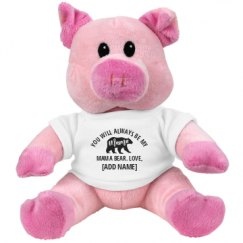 7.5 Inch Pink Piggie Stuffed Animal