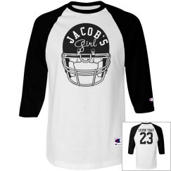 Custom Football Girlfriend Shirts With Number