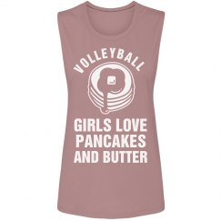 Volleyball Girls Love Pancakes