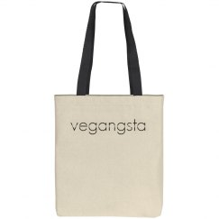vegangsta canvas tote bag