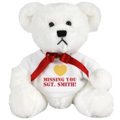 Missing You Military Bear