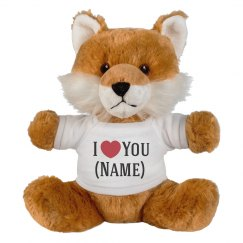 Custom Fox Loves Add Name