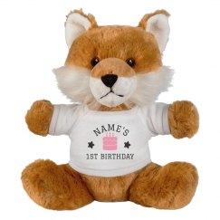 Custom Birthday Fox Plush