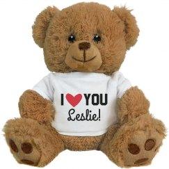 Custom Valentine's I Love You Teddy
