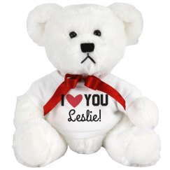 Custom Valentine's I Love You Teddy