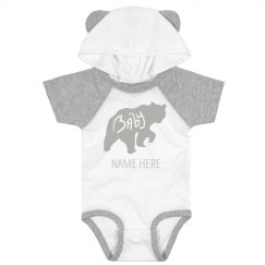 Baby Bear Custom Name Bodysuit