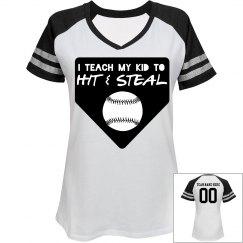 Hit & Steal Baseball Mom