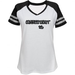 Connecticut Tribe Varsity Tee (womens)