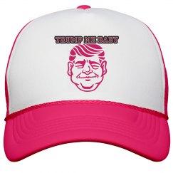 2TRUMP ME PINK&WHITE TRUCKER HAT