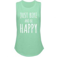 Cute Just Bike Be Happy