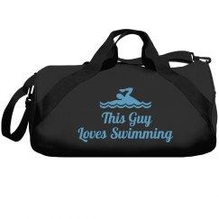 Guy loves swimming