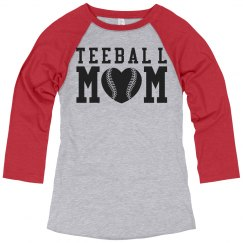 Proud Teeball Mom Pride Jersey