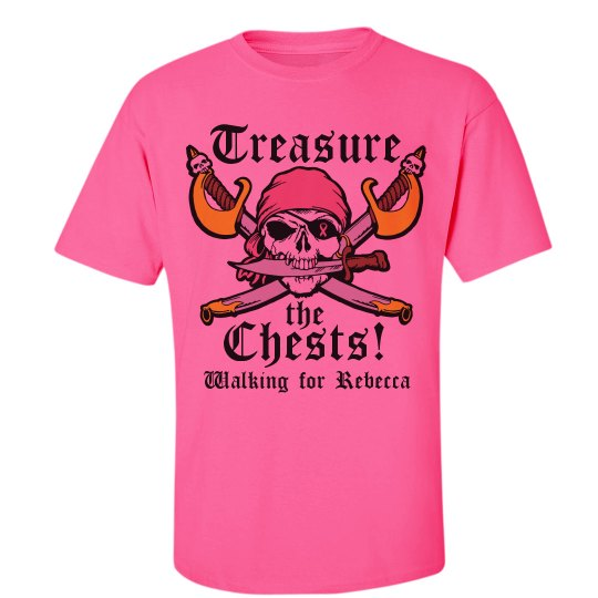 ca966d3a3 Breast Cancer Walk Pirate Unisex Ultra Cotton Safety Neon Crew Neck T-Shirt:  Raising Funds to Fight Breast Cancer