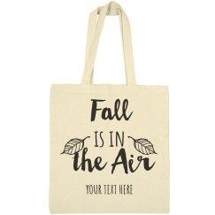 Fall is in the Air Custom Tote Bag