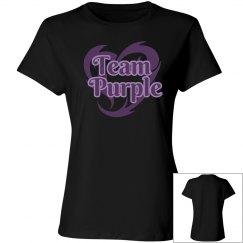 Team Purple Black T-Shirt