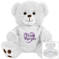 Team Purple Personalized Bear