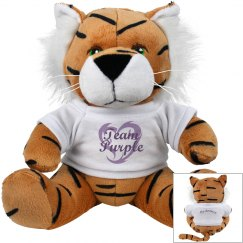Team Purple Personalized Tiger