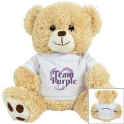 Team Purple Personalized Tiger