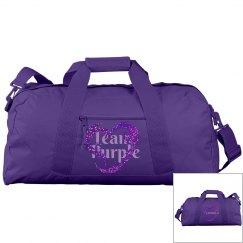 Team Purple Personalized Duffel Bag