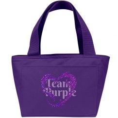 Team Purple Tote Bag