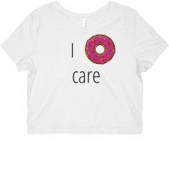 i donut care crop T shirt