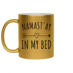 Silver Metallic Namast'ay in Bed Mug