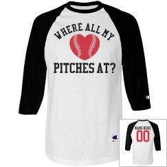 All My Baseball Pitches Funny Baseball Girl