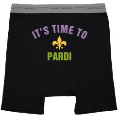It's Time To Pardi Mardi Gras Black