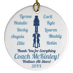Cheer Coach Christmas Gift With Cheer Squad Names