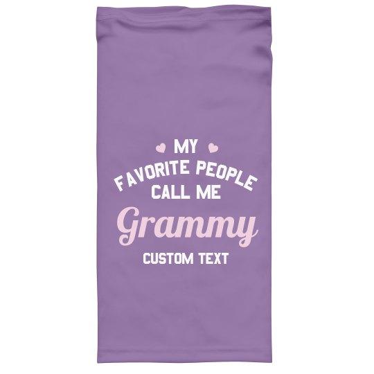 Call Me Granny Custom Face Cover
