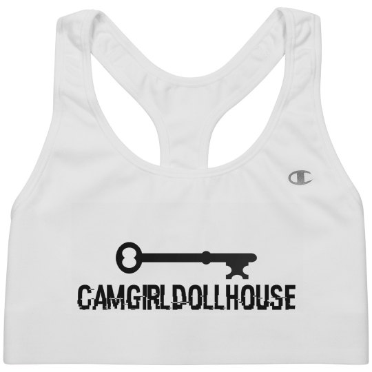 CamGirlDollhouse Logo Sports Bra