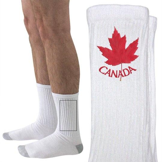 Canada Maple Leaf Socks
