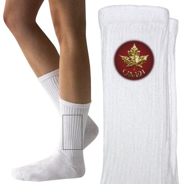 Canada Socks Kids Gold