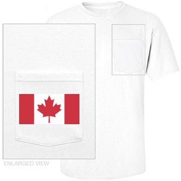 canadian flag pocket tee