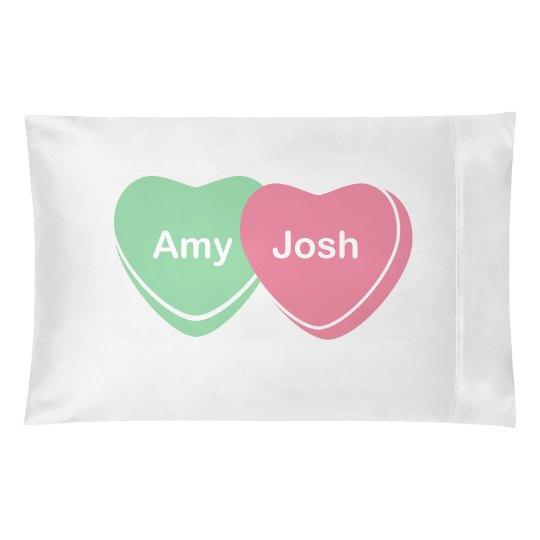 Candy Heart Pillow Love
