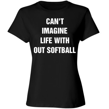 Can't imagine no softball