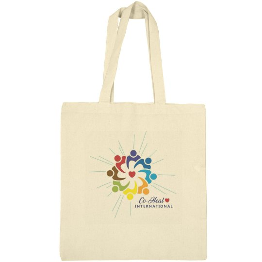 "Canvas Tote Beige  ""There's a Healer in me"""