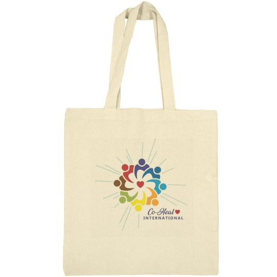 Canvas Tote Beige Logo Only