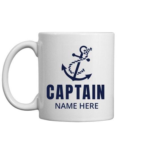 Captain Dad Gift Custom Name