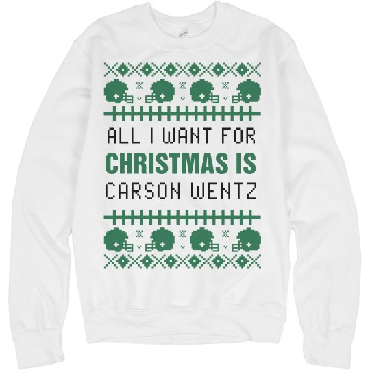 Carson Wentz Christmas Gift Ugly Sweater