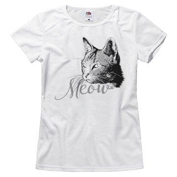 Cat Head Meow Black Grey