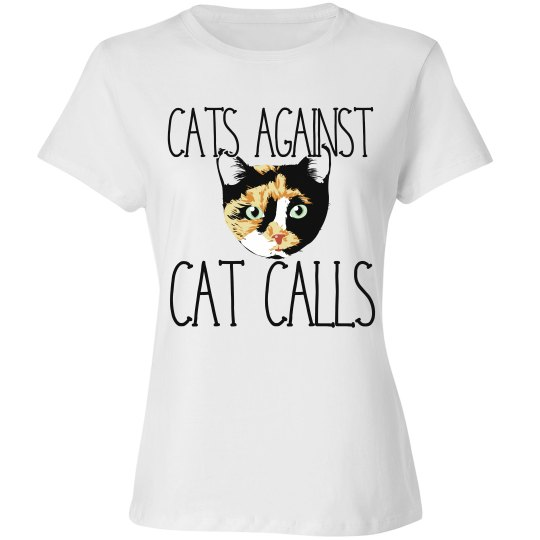Cats against catcall calico cat