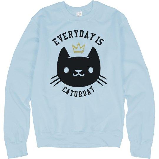 Caturday crewneck Sweatshirt - Unisex