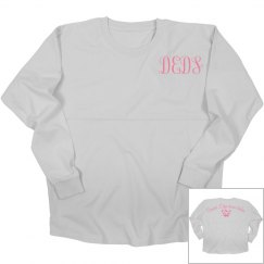 Monogrammed dancer's edge long sleeve game day jersey