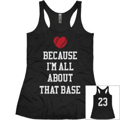 About That Base Baseball Girlfriend Love Custom Tank