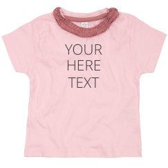 Add Your Text Little Girl Design