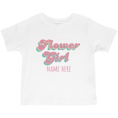 Retro Flower Girl Custom Tee