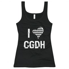 Black and White I Heart CGDH Tank